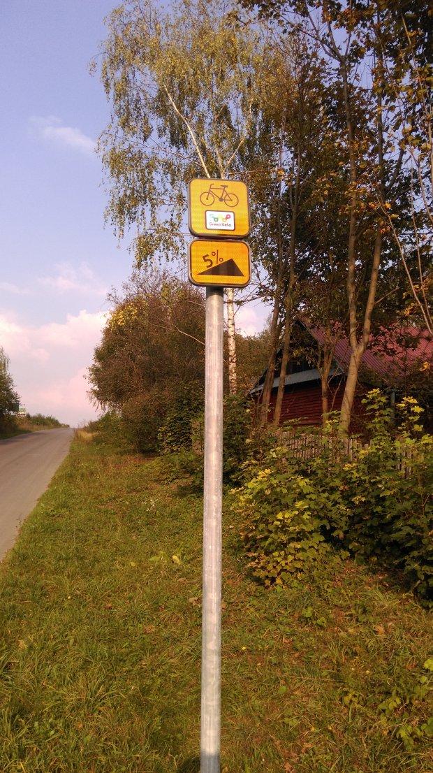 oznakowanie szlaku Green Velo