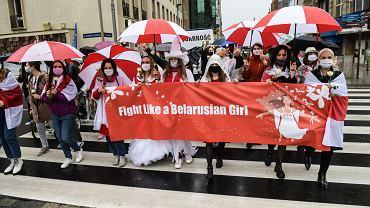 Marsz solidarności z kobietami Białorusi