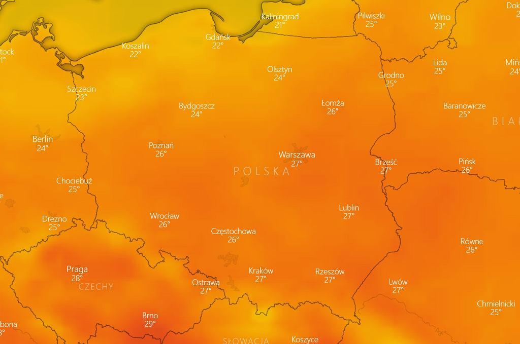 IMGW ostrzega: w sobotę do Polski powróci upał