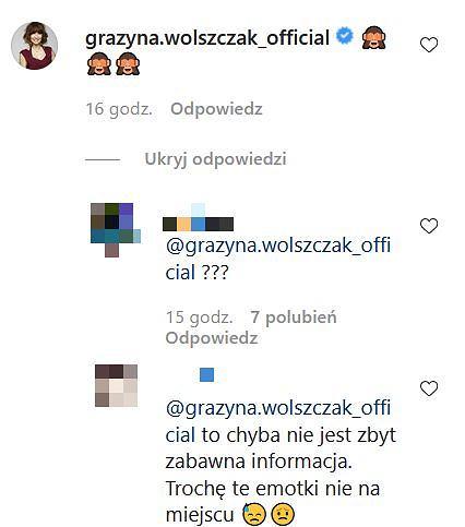 Grażyna Wolszczak komentuje wiadomość o śmierci Dariusza Gnatowskiego