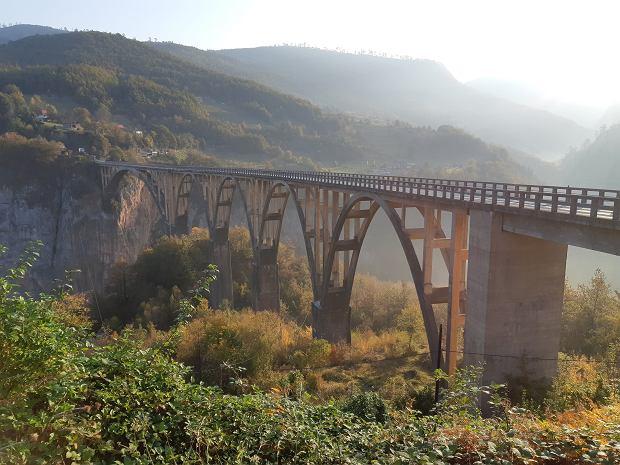Czarnogóra. Słynny most na rzece Tarze