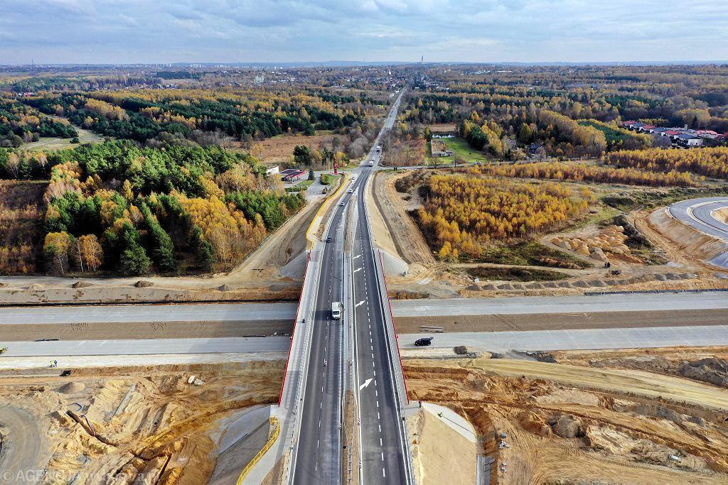 Przecięcie budowanej autostrady A1 z drogą krajową nr 43 Częstochowa - Kłobuck