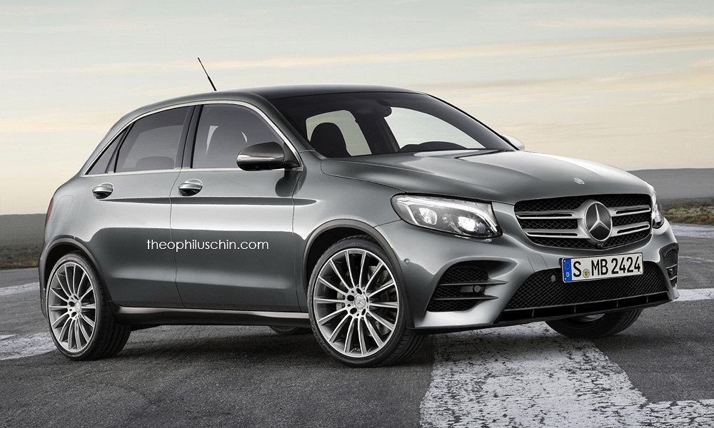 Wizualizacja małego crossovera Mercedesa