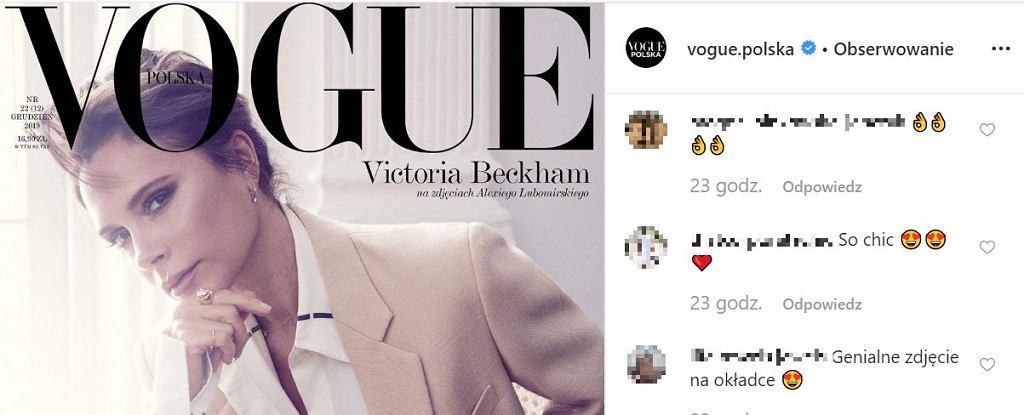 Victoria Beckham zachwyca na okładce grudniowego 'Vogue' Polska. Autorem zdjęć popularny fotograf