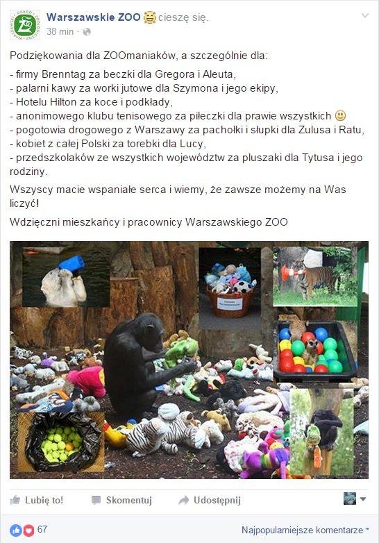 www.facebook.com/WarszawskieZOO/