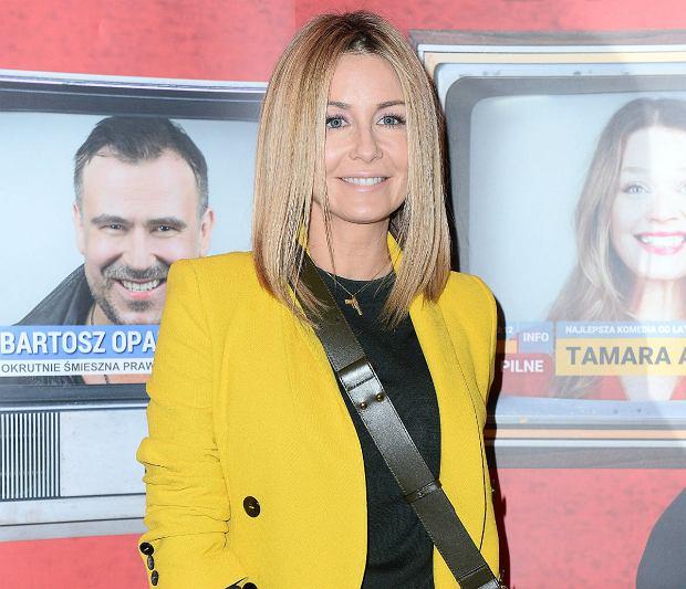 c9b324fad5056 Wiosenna Małgorzata Rozenek w żółtym garniturze z sieciówki. Ten komplet to  instagramowy hit