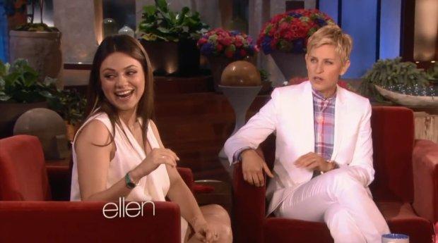 Mila Kunis i Ellen DeGeneres