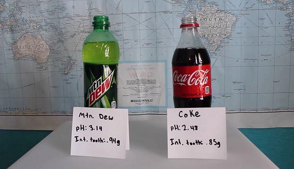 Eksperyment, który pokazuje co tak naprawdę słodkie napoje robią z naszymi zębami.