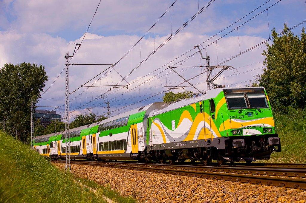 Na zdjęciu pociąg 'Słoneczny'. Nowe połączenie między Trójmiastem a Warszawą będzie prawdopodobnie realizowane takim samym pociągiem