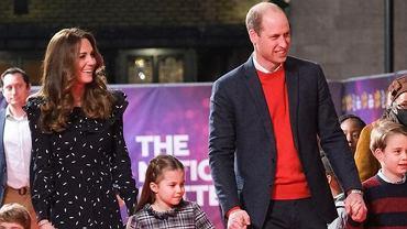 książę William, księżna Kate, księżniczka Charlotte, książę Louis, książę George