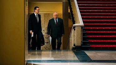 Premier Mateusz Morawiecki i Adam Glapiński, szef NBP