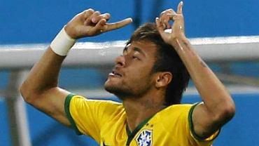 Neymar w meczu Brazylia - Chorwacja (3:1)