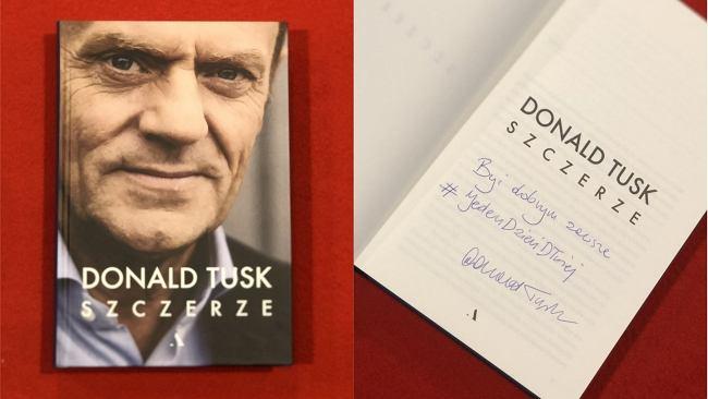 """Donald Tusk napisał, a potem podpisał. """"Szczerze"""" na naszej aukcji z wyjątkową dedykacją"""