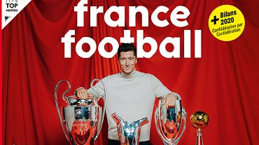 Robert Lewandowski na okładce 'France Football'