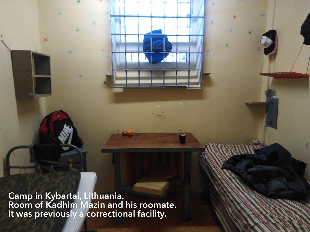 Pokój w obozie na Litwie