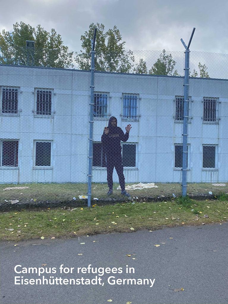 Obóz dla uchodźców w Eisenhüttenstadt