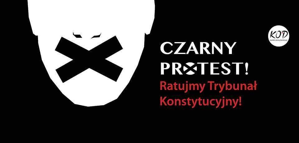 Wolność Równość Konstytucja Czarny Protest W Obronie