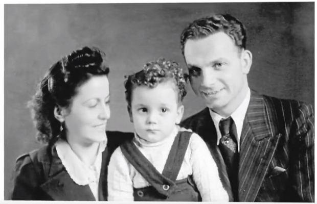 Rudolf Friemel i Margarita Ferrer z synem Edim