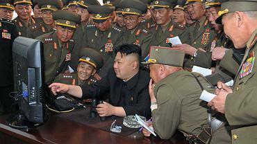 Kim Jong Un przed komputerem
