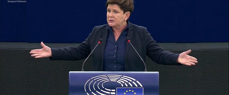 Beata Szydło w PE: Dość kłamstw! Koniec [WIDEO]