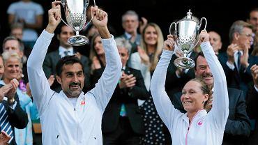 Nenad Zimonjić i Samantha Stosur po wygranej w Wimbledonie 2014