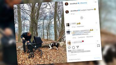Donald Tusk na swoim profilu często publikuje zdjęcia z wnukami. Nie inaczej mogło być z okazji Dnia Dziadka
