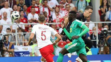 MŚ 2018. Jan Bednarek podczas meczu fazy grupowej Polska - Senegal