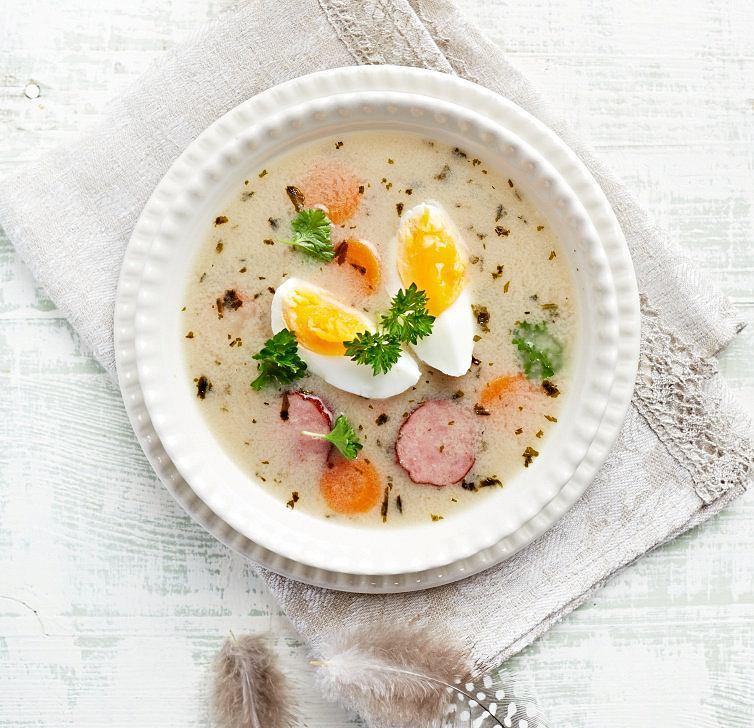 Biały barszcz - tradycyjna polska zupa wielkanocna