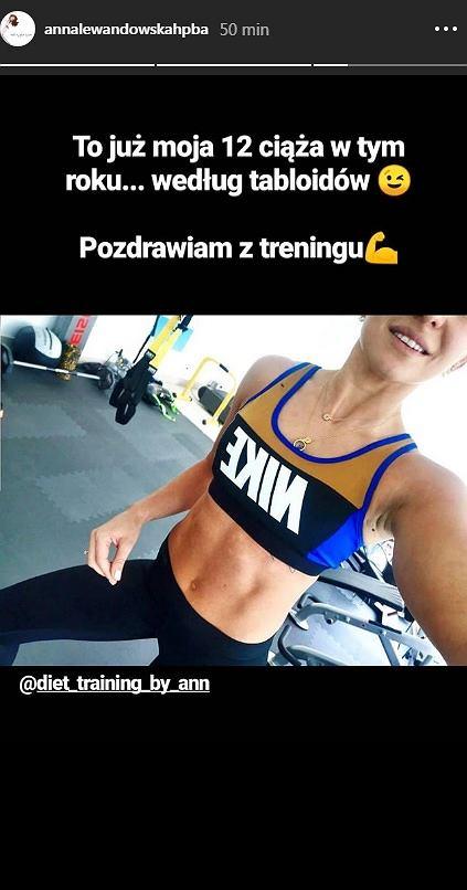 Anna Lewandowska nie jest w ciąży
