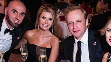 Marcin Gortat z żoną, Piotr Adamczyk z żoną