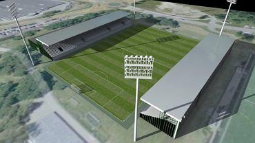 Wizualizacja nowego stadionu piłkarskiego w Rybniku
