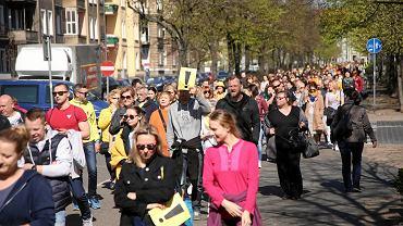 Spacer nauczycieli w Szczecinie