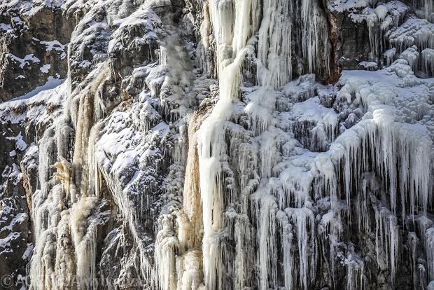 Zdjęcie numer 11 w galerii - Na Kadzielni jak w krainie lodu. Można już podziwiać lodospad, widoki fantastyczne [ZDJĘCIA]