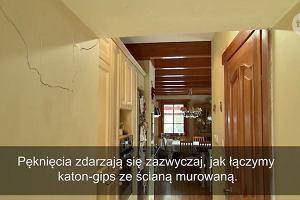 Wiesław Skiba naprawił pękniętą ścianę