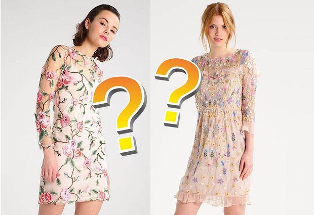 Najmodniejsze sukienki na wesele: drożej/taniej