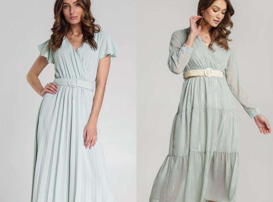 Miętowe sukienki na wiosnę