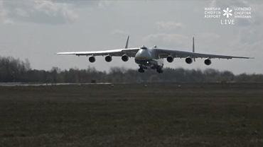 An-225 Mrija wylądował w Warszawie. To największy samolot na świecie
