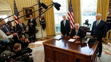 Donald Trump na spotkaniu z mediami
