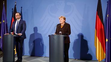 Niemcy walczą z koronawirusem. Minister zdrowia Jens Spahn i kanclerz Angela Merkel.
