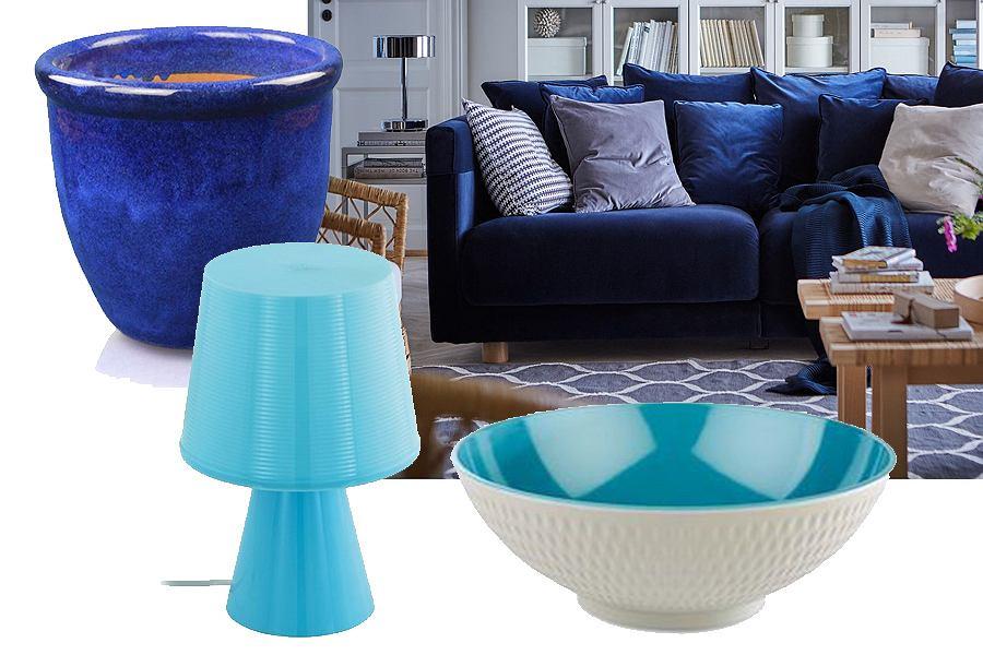 Niebieskie dodatki do skandynawskiego stylu