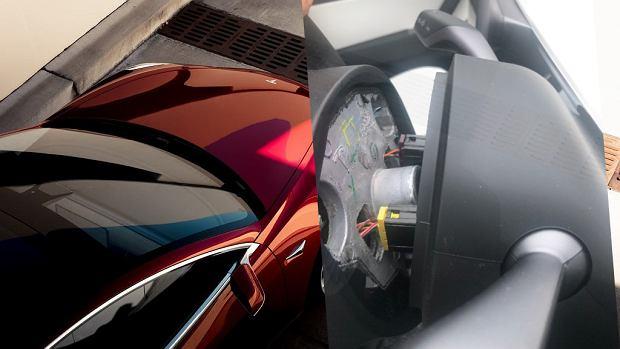 W Tesli Model 3 odpadała... kierownica. Miesiąc po zakupie. Ktoś zapomniał ją przykręcić