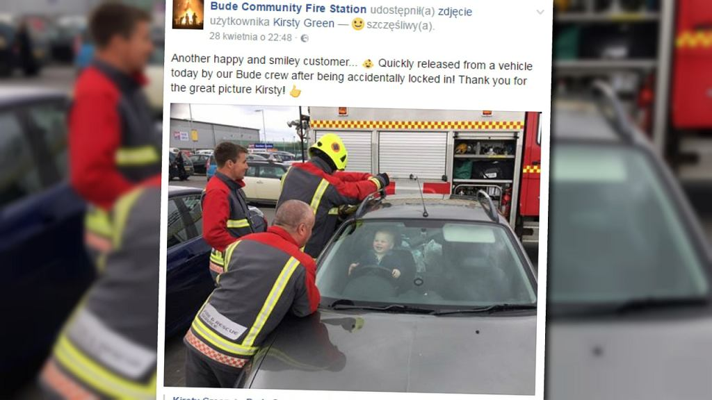 Interwencja strażaków z Bude