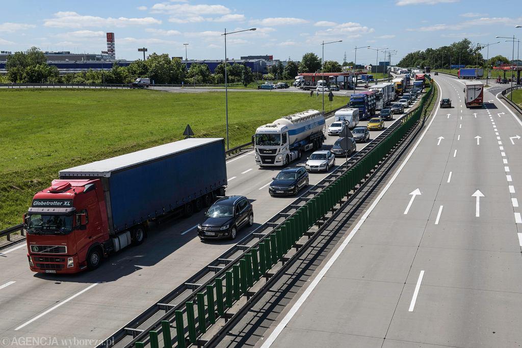 Kilkukilometrowy korek przed PPO Karwiany na A4 / Zdjęcie ilustracyjne