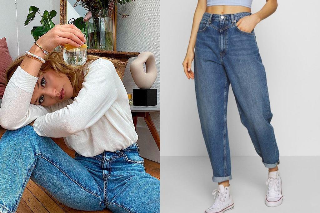 Spodnie mom jeans
