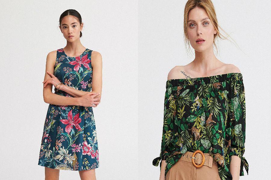 Rajska roślinność na ubraniach