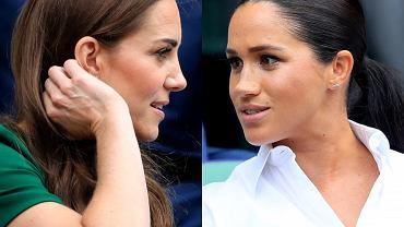 Księżna Meghan i księżna Kate razem na Wimbledonie