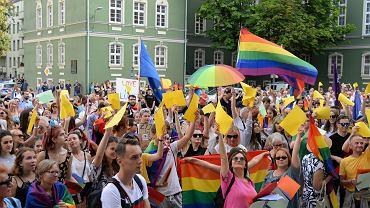 Piątkowa manifestacja 'Szczecin - strefa wolna od nienawiści!' w Szczecinie