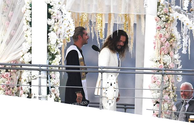 Heidi Klum and Tom Kaulitz are seen getting married on a yacht on august 03, 2109 in Capri, Italy    Pictured: Heidi Klum and Tom Kaulitz      World Rights, No France Rights, No Italy Rights, No Switzerland Rights