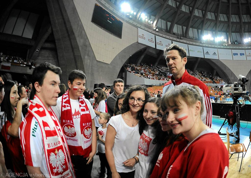 Trener reprezentacji Polski Stephane Antiga w Hali Stulecia