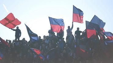 Kibice Pogoni podczas meczu z Cracovią